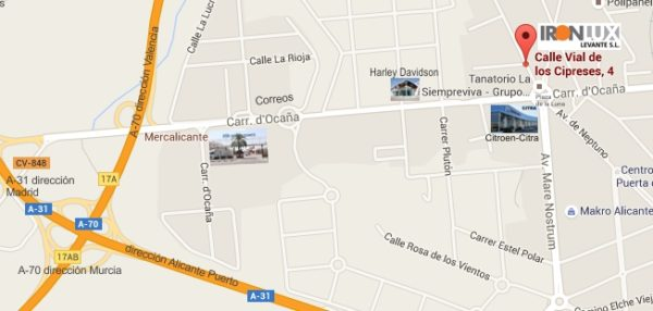 google-maps-ironlux-alicante
